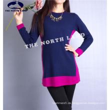 Damen Cashmere Pullover mit Intarsia Csw15082103