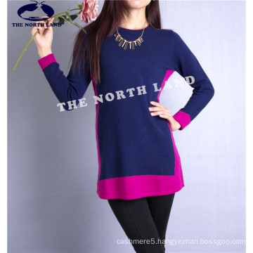 Women′s Cashmere Pullover with Intarsia Csw15082103