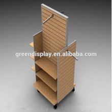 Stable performance big folding cardboard tray display stand