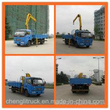 Dongfeng 4X2 180HP caminhão guindaste Crane