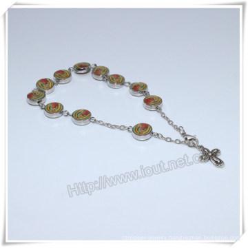 Wholesale Glass Beads Catholic Religious Rosary Bracelet, Rosary Rings, Catholic Rosary Finger Ring (IO-CB184)