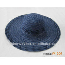 Navy Lady's Wholesale Straw Hat
