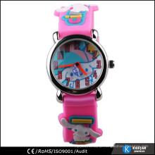 round case unique watch rubber watch for children