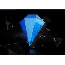 Diamante forma lâmpada traseira + lâmpada de laser