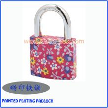 Candado pintado colorido del hierro de la galjanoplastia del precio barato de la venta superior