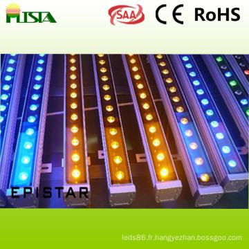 18W étanche LED applique murale rondelle avec couleur RVB