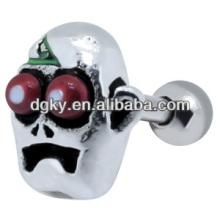 Freaky skull piercing ear stud