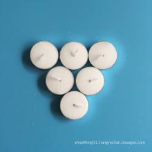Aluminum Holder White Smokeless Round Tealight Candles