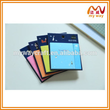 Colorful printing fancy sticky notes,school stationery of cute sticky notepad