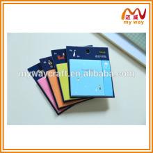 Красочные печати причудливые заметки, школьные канцелярские принадлежности симпатичный липкий блокнот