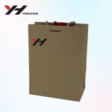 2018 gros logo imprimé vert luxe recyclable sac-cadeau en carton personnalisé
