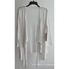 100% algodón manga larga señoras Opean modelado punto chaqueta