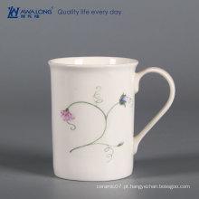 Caneca do leite do pequeno almoço da porcelana da casa / canecas personalizadas cerâmicas da porcelana elegante com logotipo