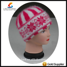 DSC9592 lingshang angora high quality Custom Crocheting Knitted lady Beret hat for winter