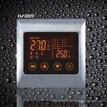 Termostato de calefacción por suelo radiante Interruptor táctil Metal Frame (SK-HV2000L8-L)