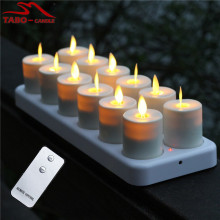Luminara Moving Flame recarregável LED Candle 12 Set