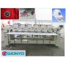 Máquina de bordar do tampão da cor da cabeça 9 ou 12 de alta velocidade 6 para o bordado liso dos t-shirt das camisas 3D (WY906C / WY1206C)