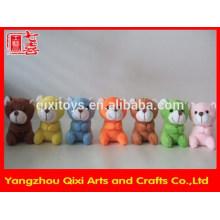 Mini clip d'ours en peluche coloré mini, animal en peluche clip ours en peluche
