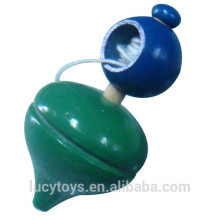 traditional toy wooden stayguy toy spinning top