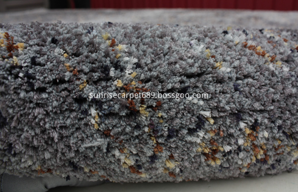 Floor carpet rug for home decoraion grey and blue color