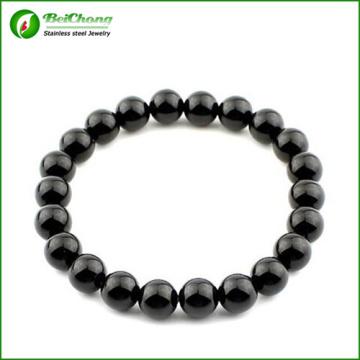 Anil Arjandas 316l Stainless Steel 8mm Black Bead Men Bracelet Bangles Jewelry