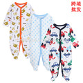 100% organic cotton baby romper gift clothes 2017 newborn long sleeve winter baby girl jumpsuit