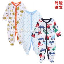 100% органический хлопок ребенка ползунки одежды подарочная 2017 новорожденного с длинным рукавом зима девочка комбинезон
