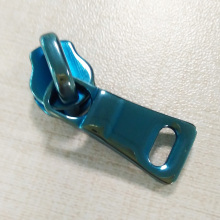 Shiny Blue Alloy Metal No.8 Slider voor tas