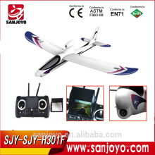 rc model airplane H301F 2.4G 4CH sky hawk rc airplane 4 Channel FPV Transmitter Spy Video Crashproof
