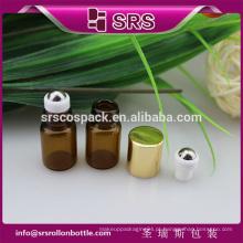 1ml 2ml rolo de vidro mini em garrafa, bolso 100% sem vazamento garrafa de vidro de óleo essencial