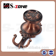 plated curtain tie back hooks Zinc alloy
