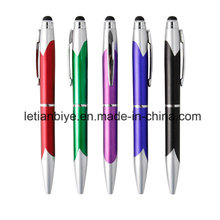 Bolígrafo promocional de plástico con lápiz táctil (LT-D002)