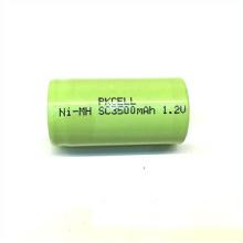 Courant rechargeable de la décharge 10c 23 * 43mm 1.2v Sc 3500 Nimh pour l'outil de puissance