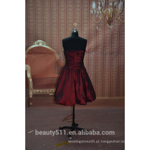 Em estoque Off-The-Shoulder Vestido de festa curto sem mangas vestido de festa vestido de noite SE02