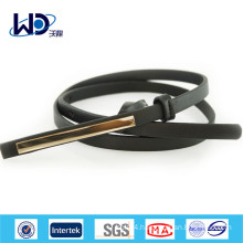Fashion Black Women PU Skinny Belts