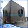 Steel flooring pontoon for marine construction