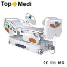 Hot Sale Hospital Enectric cama com revestimento em pó de aço Frame