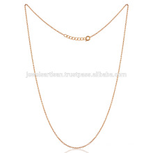 20 Inch Brass Metal Handmade Link Chain 18K Gold Plated Best Designed for You