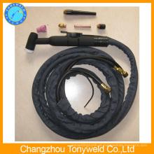 Tocha de solda de soldagem com água esfregada wp12 tig torção da China