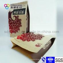 4-seitige Versiegelung getrocknete Fruchtpapier Laminierte Verpackung