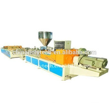 plastic recycled round wave /trapezoid wave roof sheet machinery/pp pe plastic extruding machine