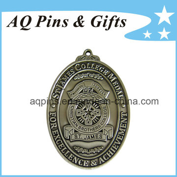 Médailles en alliage de zinc St James No Color