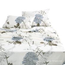 Modern design floral printed cheap microfiber comforter set bedding sheet sets