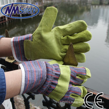 NMSAFETY good Cow Split yellow leather work gloves