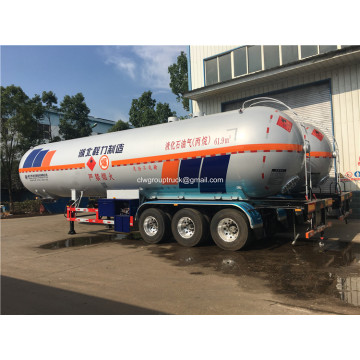 62cbm LPG Caustic Tank Transport Semi-trailer