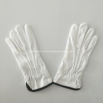 Guantes de punto de algodón con agarre de tela