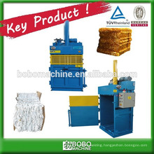 Hydraulic baling press for cotton bale