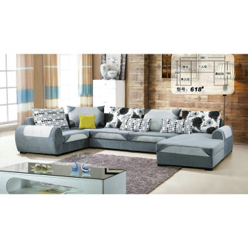 Nice Feeling Modern Living Room Fabric Sofa (618)