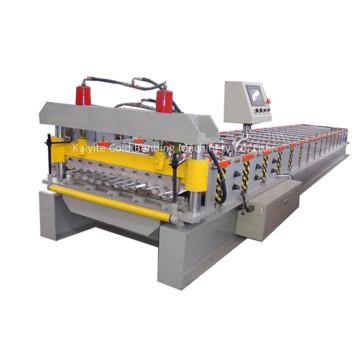 Gewölbte Stahl-Roofing-Blatt-Rolle, die Maschine bildet