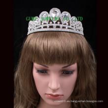 Venta caliente de la boda de la venta de la tiara grande del Rhinestone